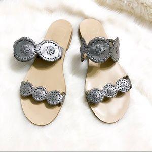Jack Rogers | Lauren Pewter Metallic Sandals